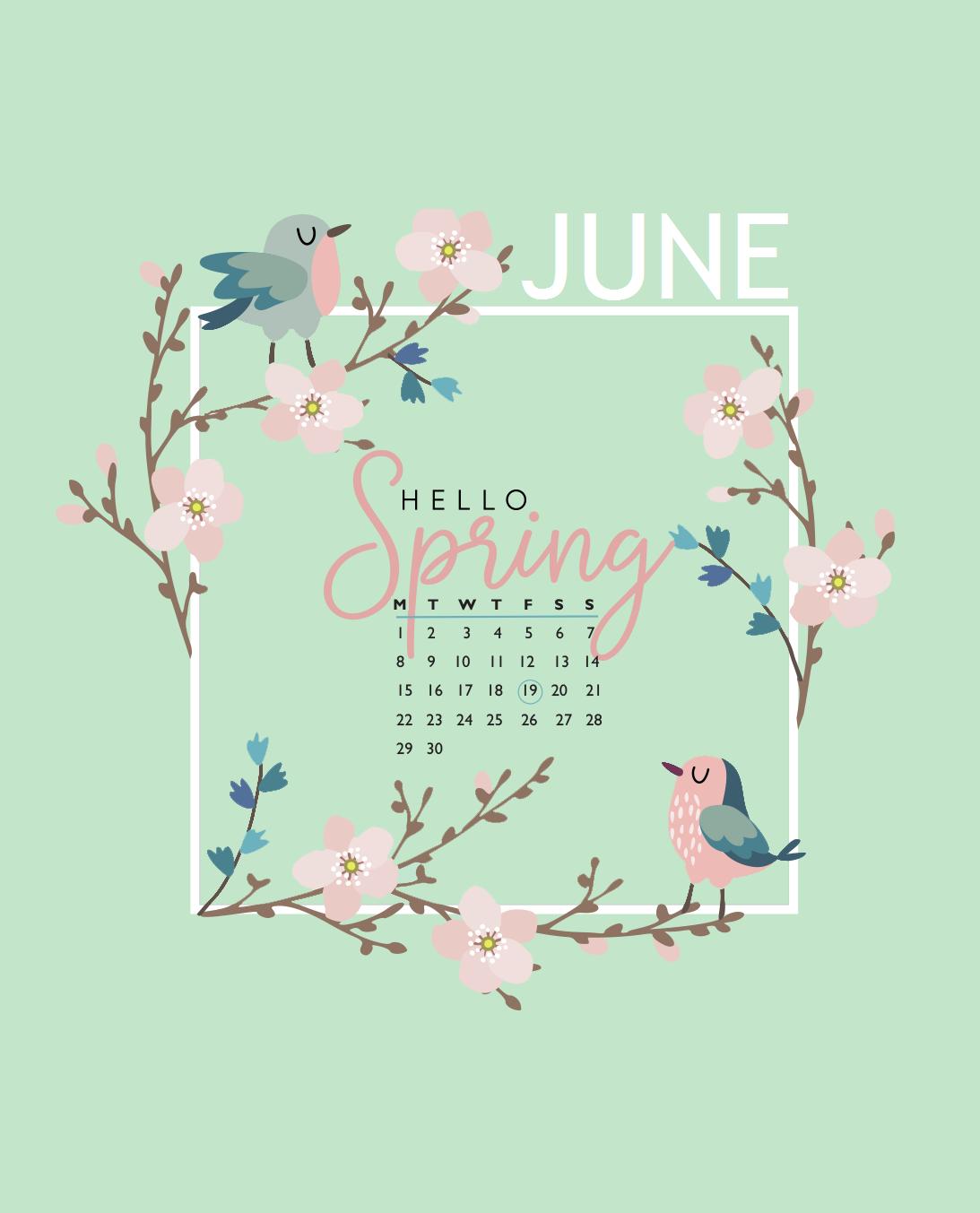 Floral June 2020 iPhone Wallpaper
