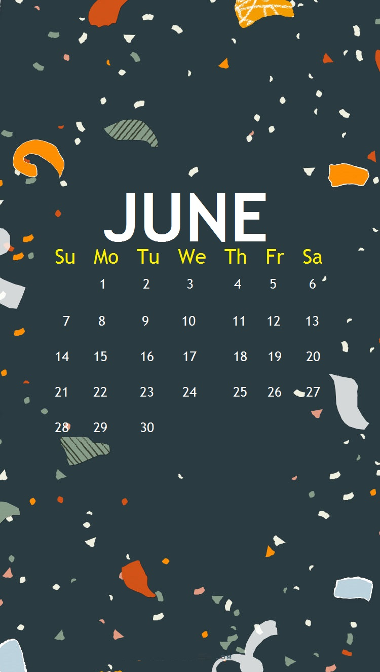iPhone June 2020 Calendar