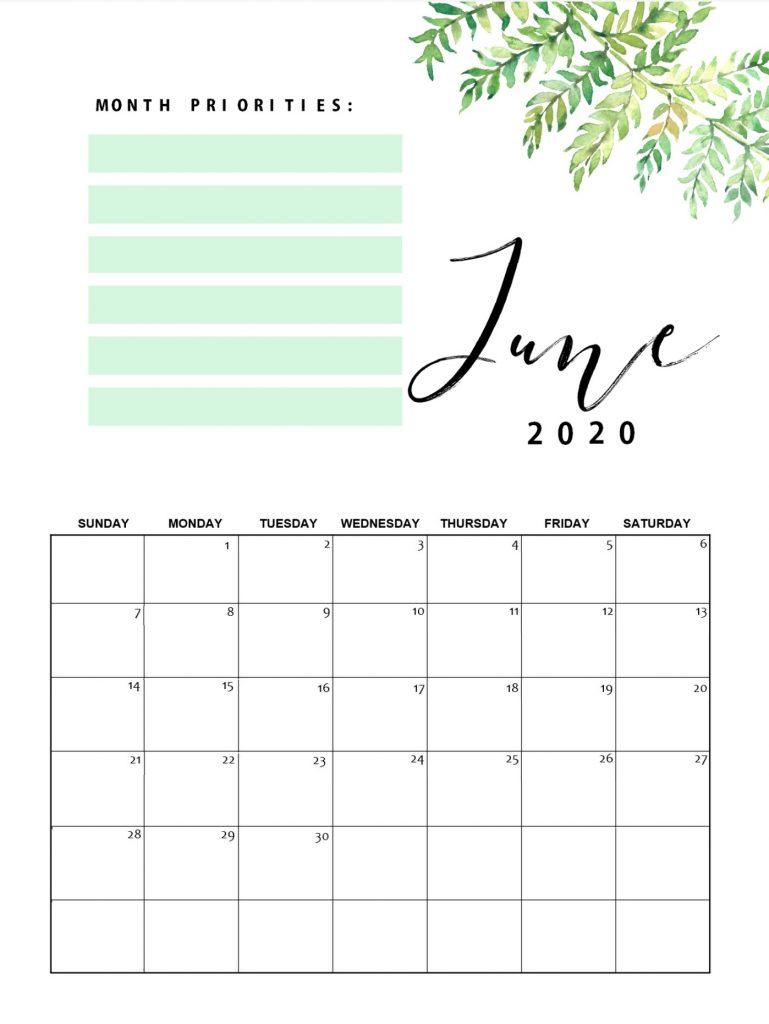 Best June 2020 Floral Calendar
