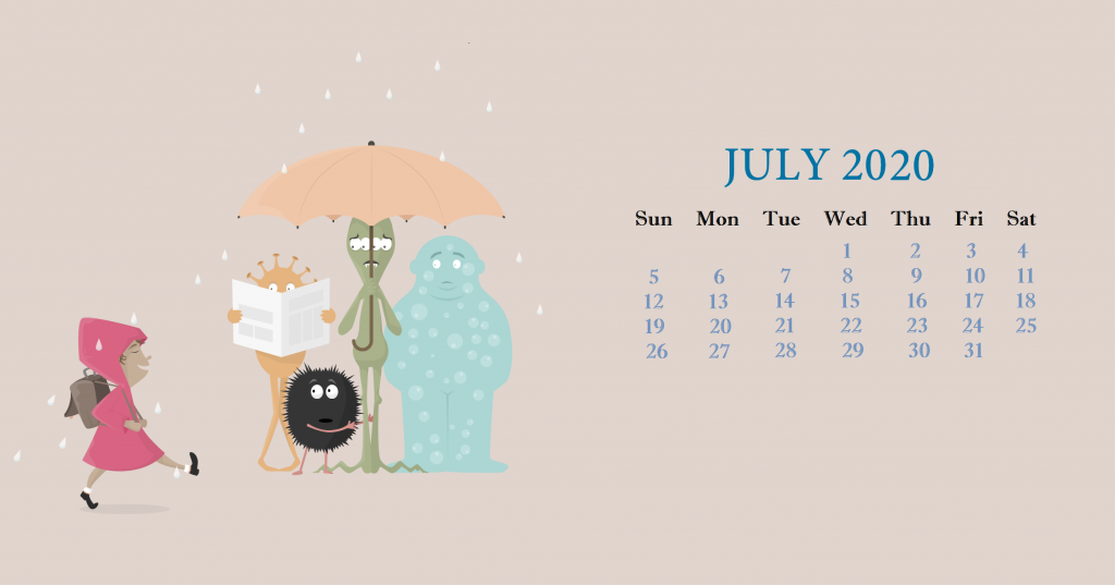 Cute July 2020 Desktop Background