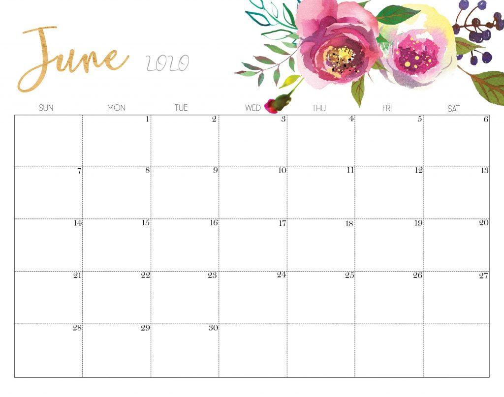 Floral June 2020Floral June 2020 Calendar Design Calendar Design