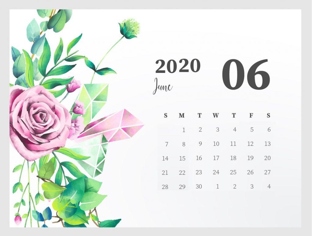 Floral June 2020 HD Calendar