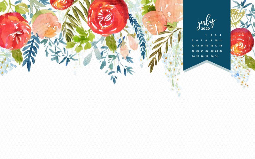 July 2020 Calendar For Desktop