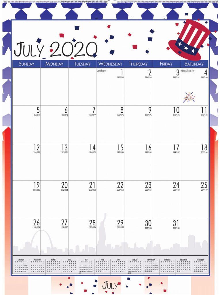 July 2020 Independence Day Calendar