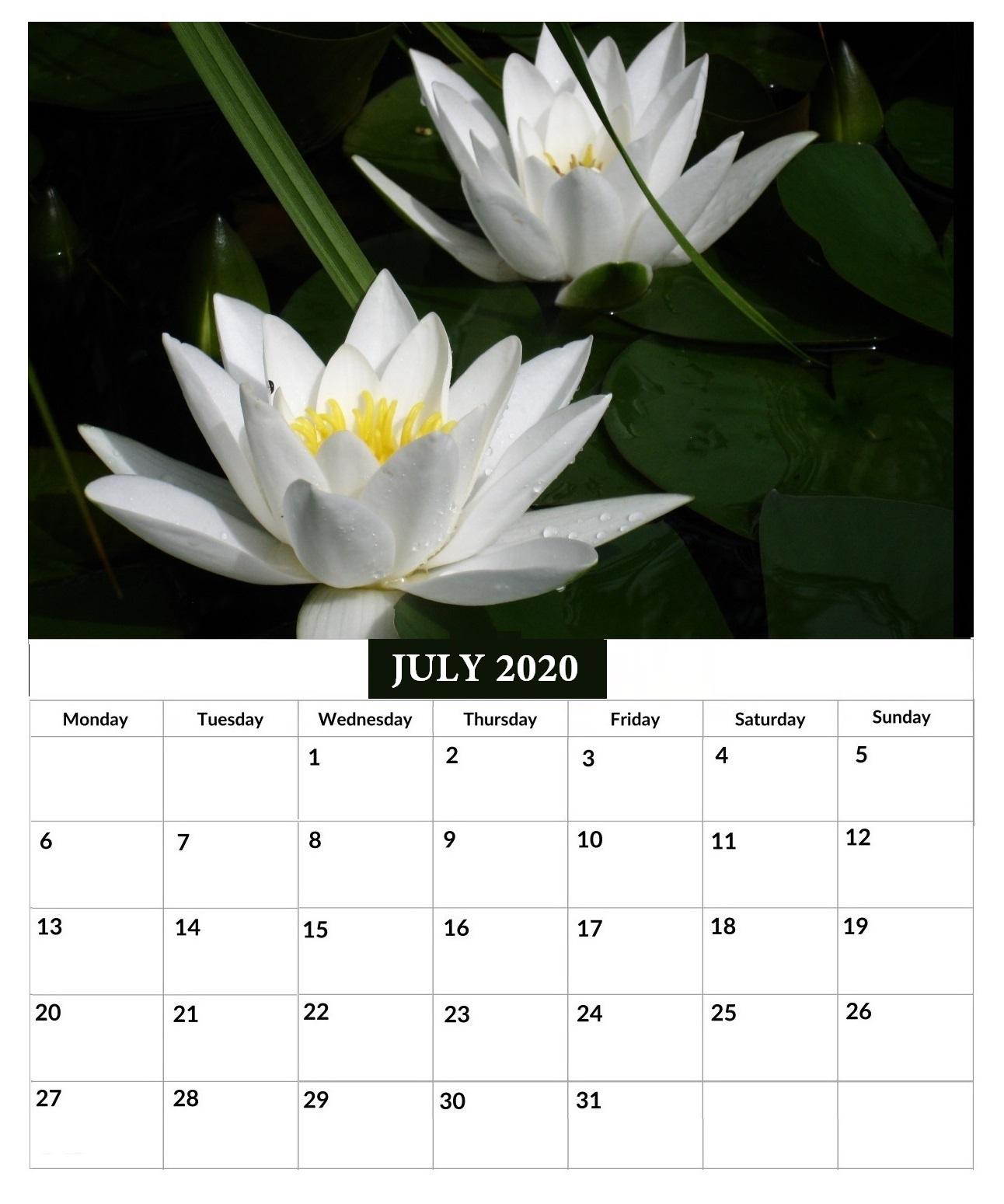 July 2020 Office Wall Calendar