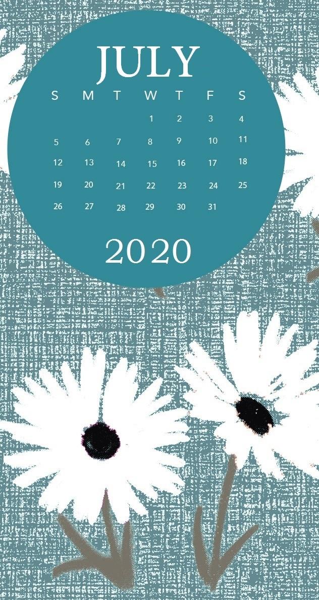 iPhone July 2020 Wallpaper Calendar