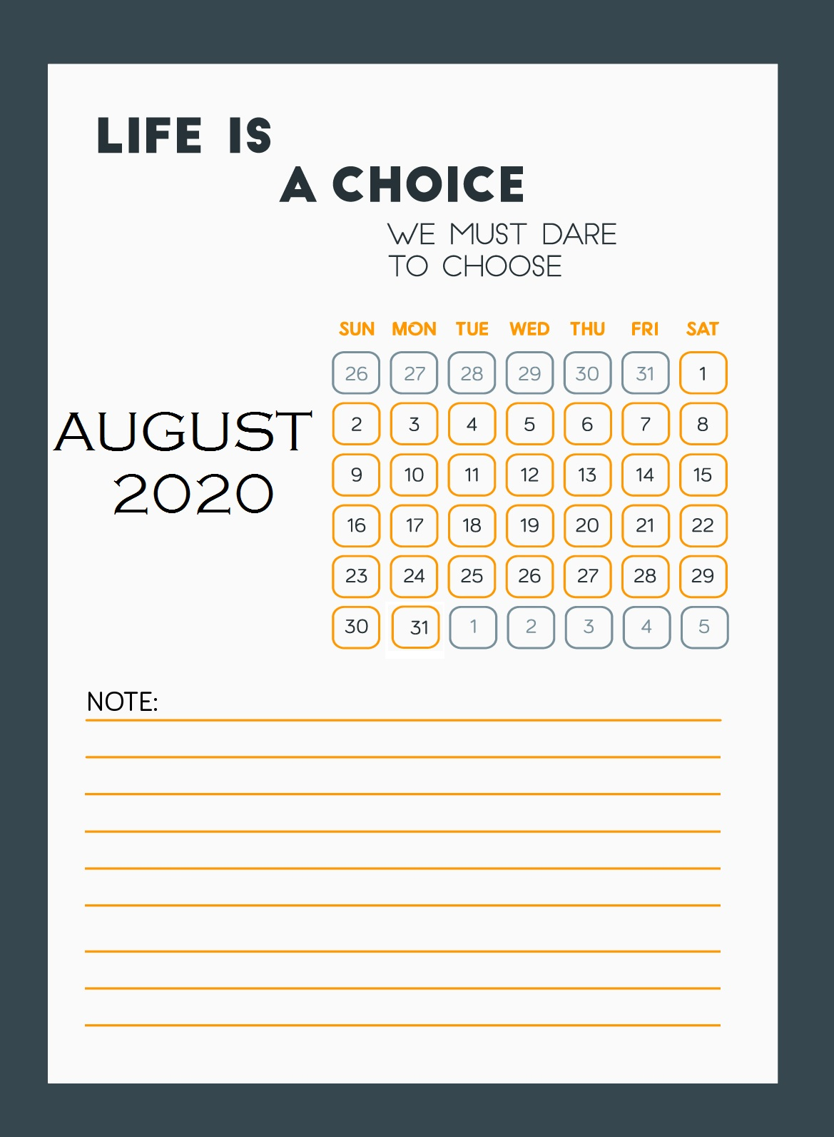 August 2020 Motivational Quotes