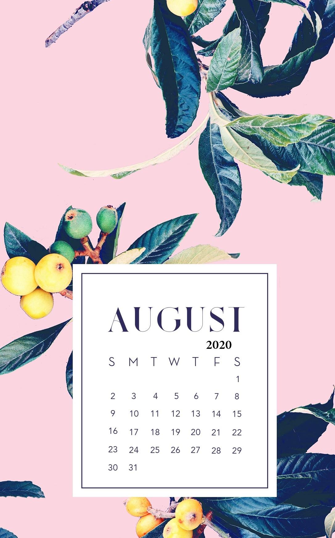 August 2020 Smartphone Wallpaper