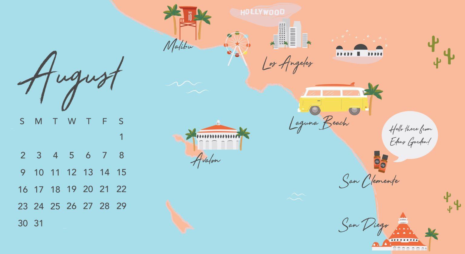 Cute August 2020 Desktop Wallpaper