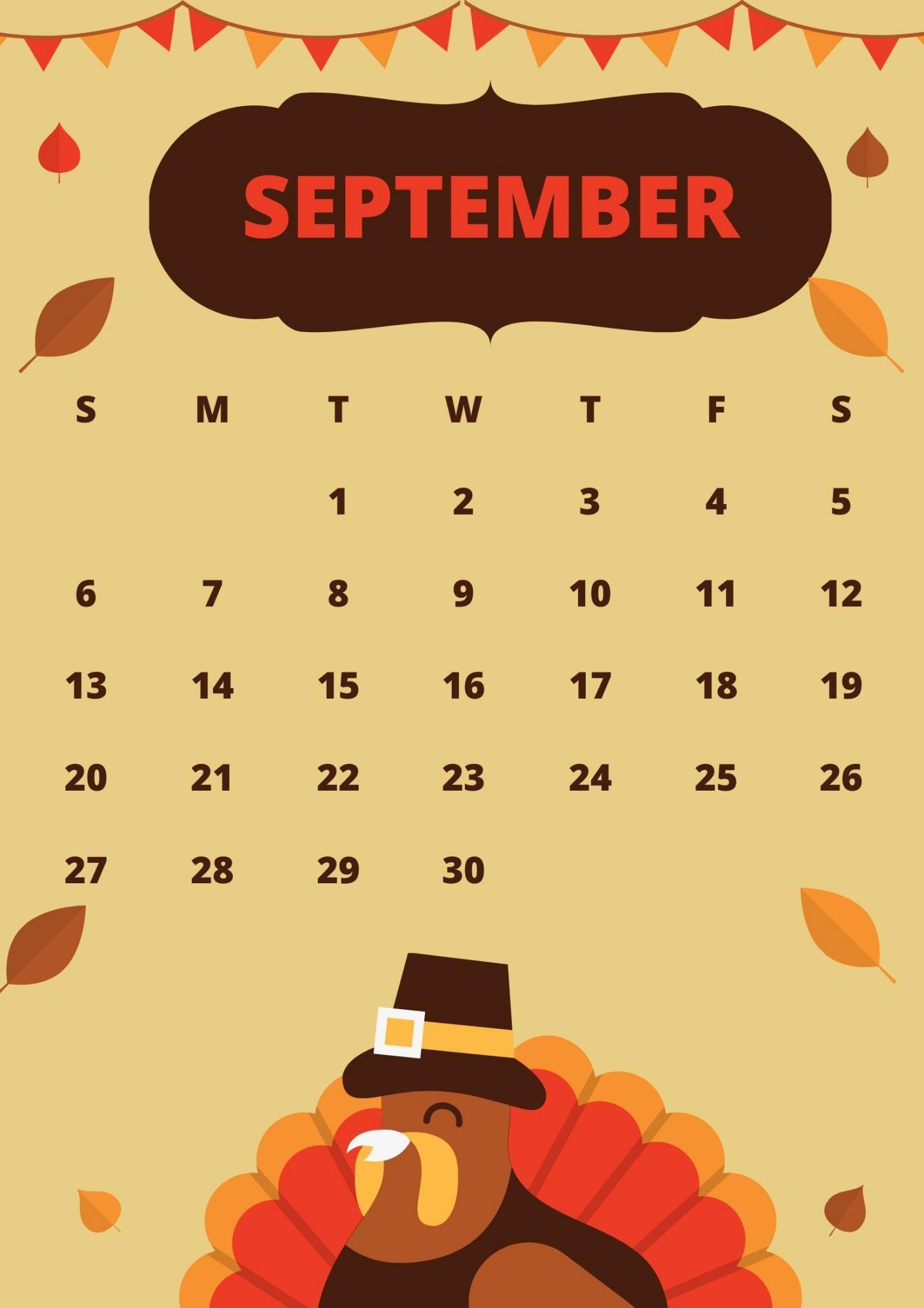 Free September 2020 Calendar Design
