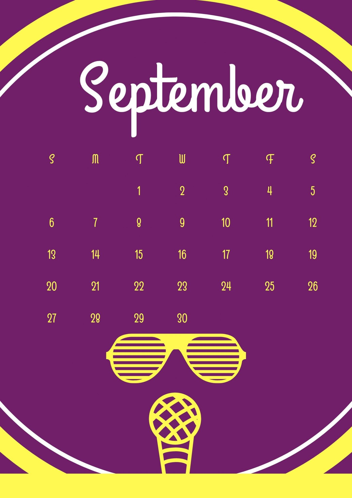 September 2020 Calendar Design Download
