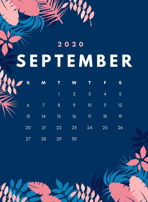 September 2020 Floral Wall Calendar