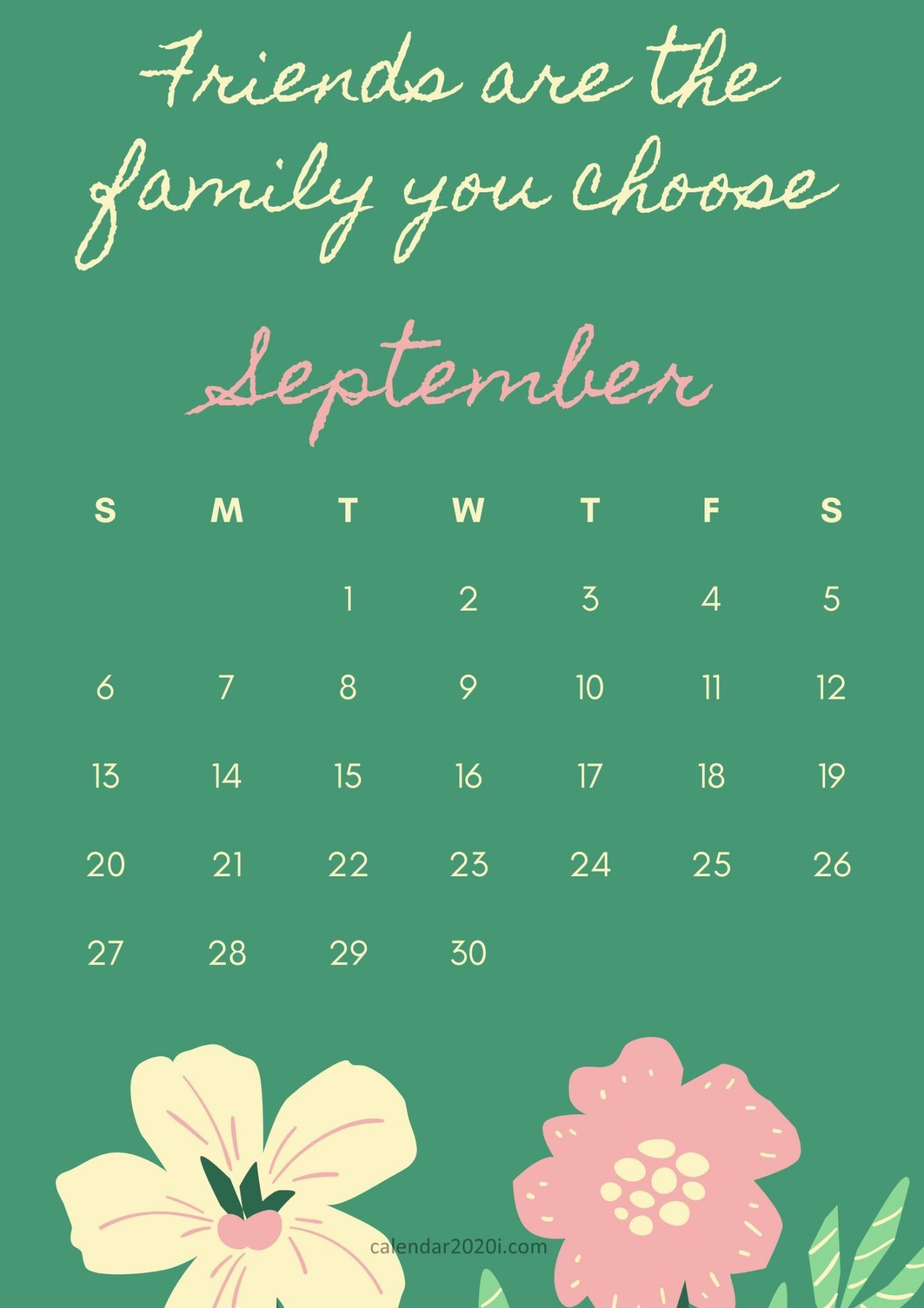 September 2020 Motivation Calendar