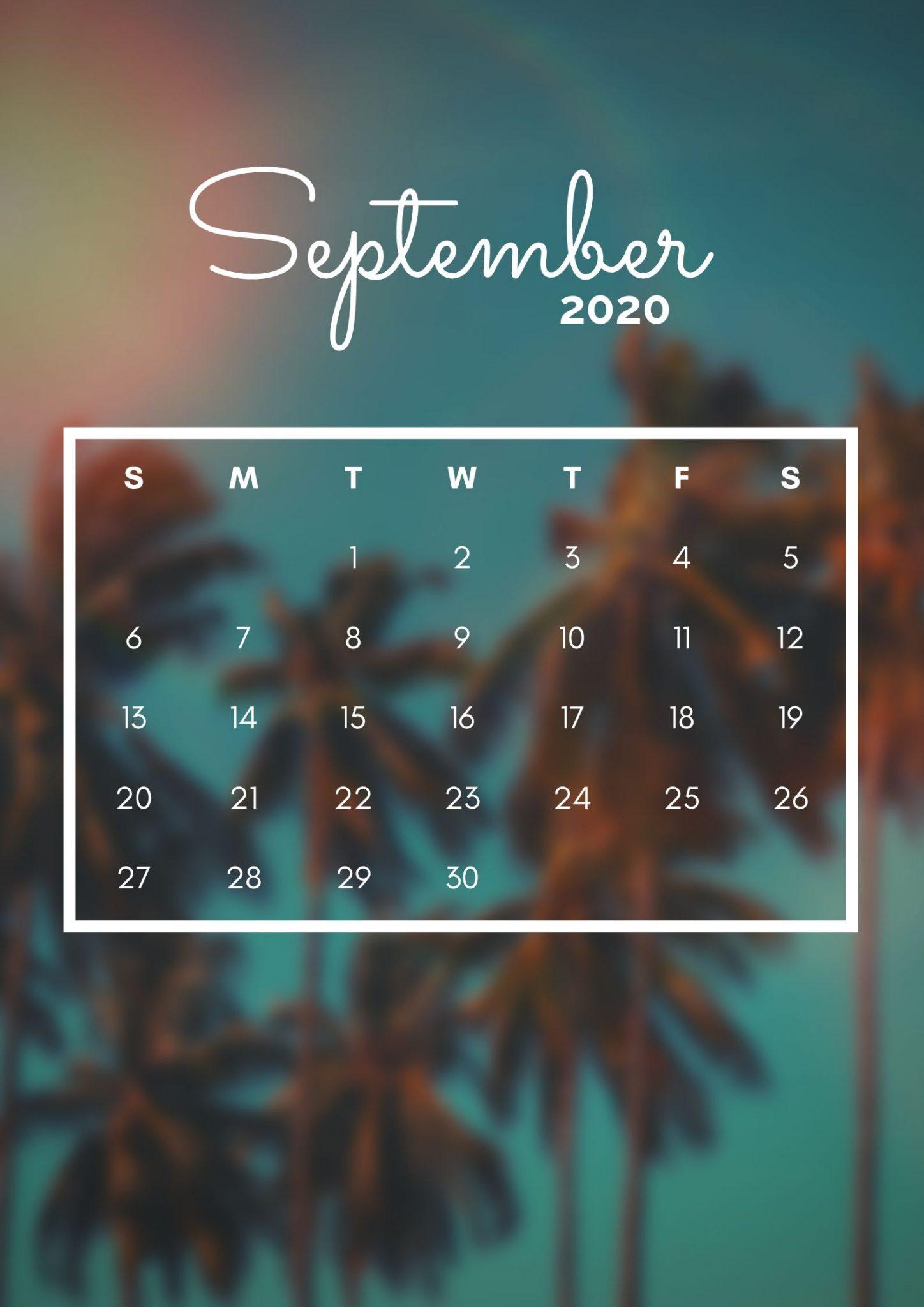 iPhone September 2020 Calendar Wallpapers