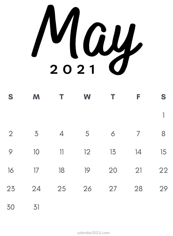 May 2021 Minimalist Calendar Printable