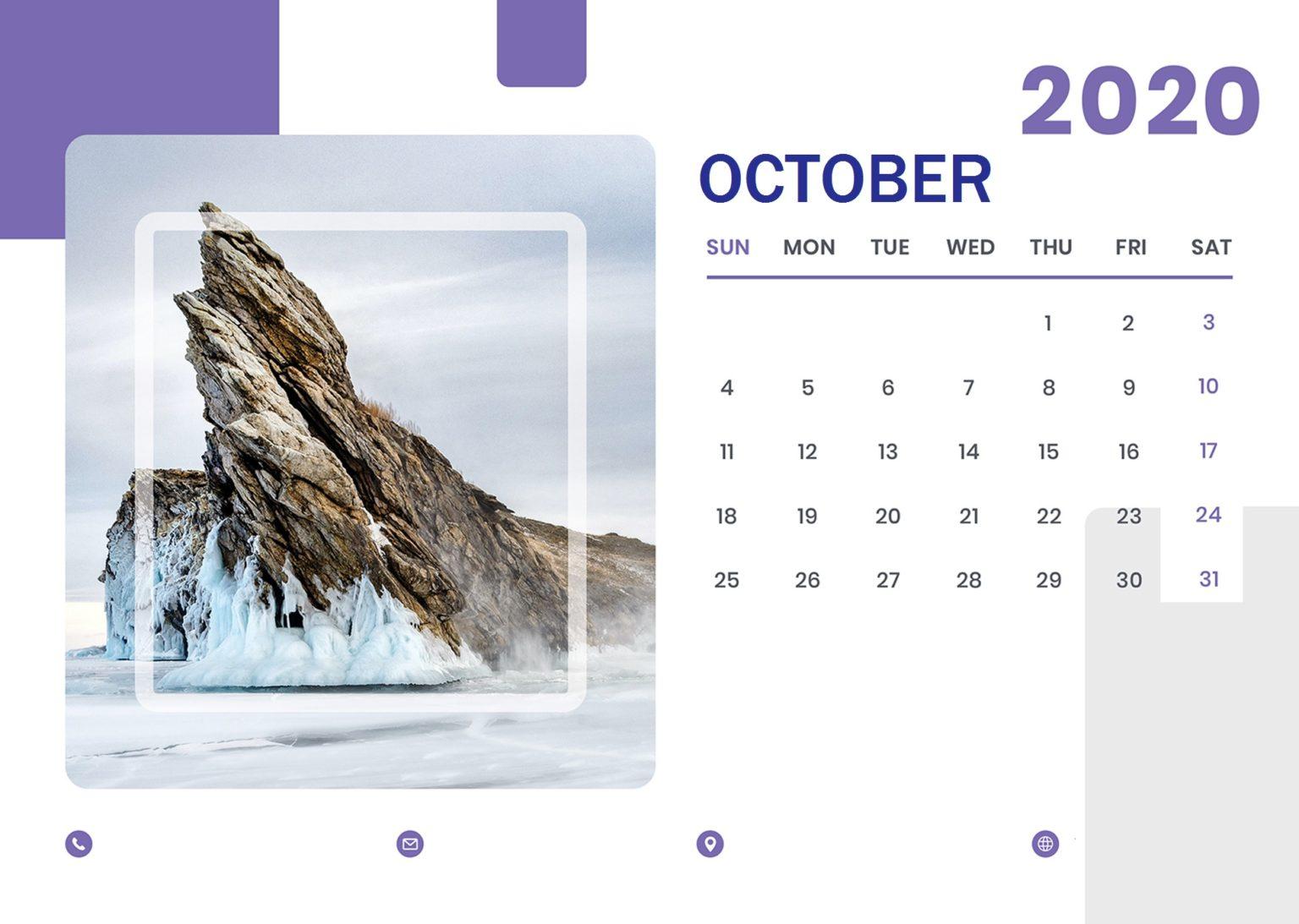 October 2020 Professional Calendar