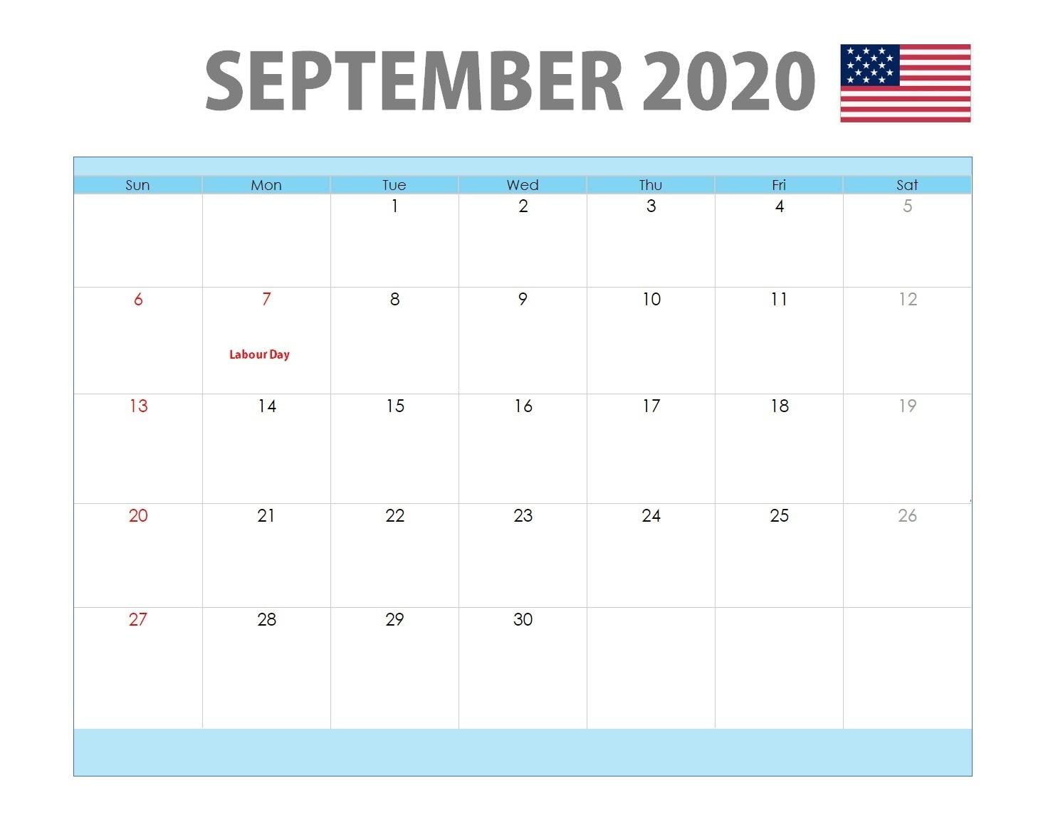 September 2020 USA Holidays