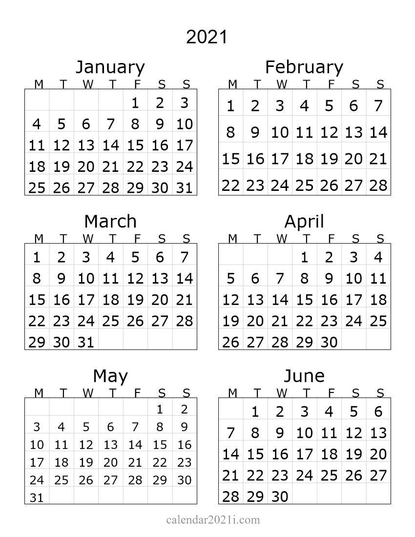 2012 1st Half Year Portrait Calendar