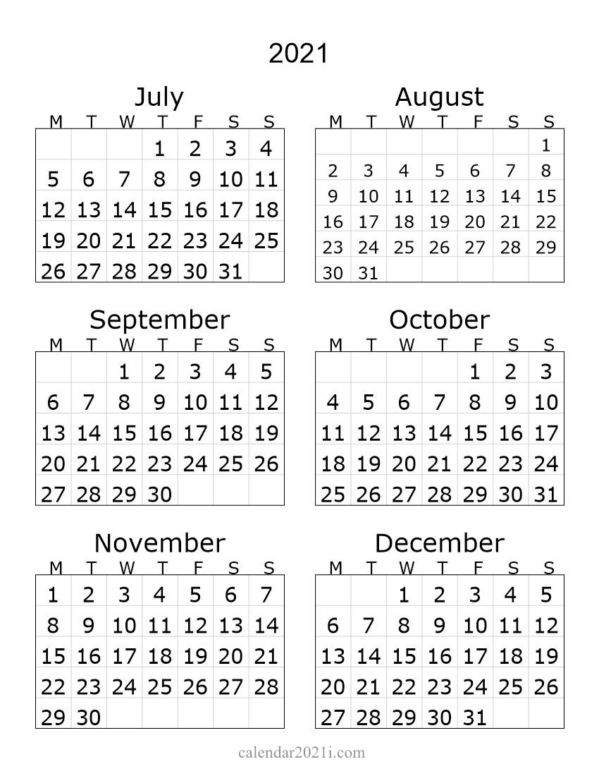2012 2nd Half Year Portrait Calendar