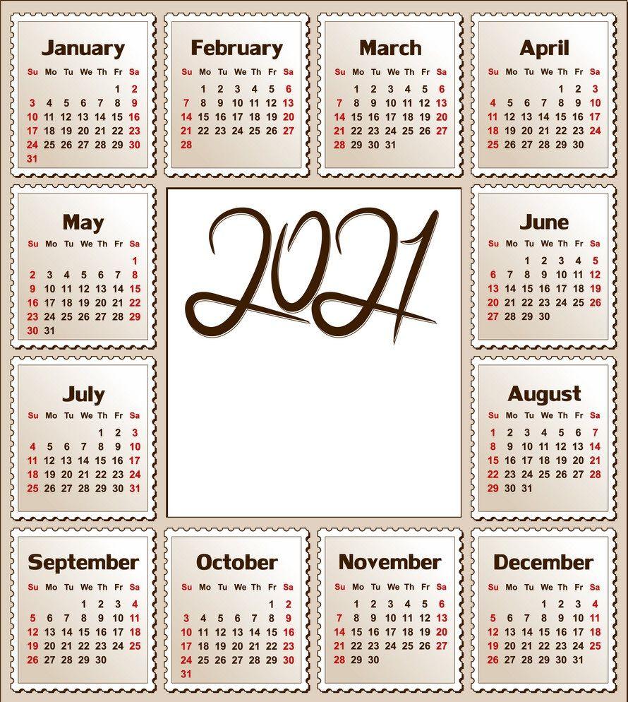2021 Beautiful Calendar Printable