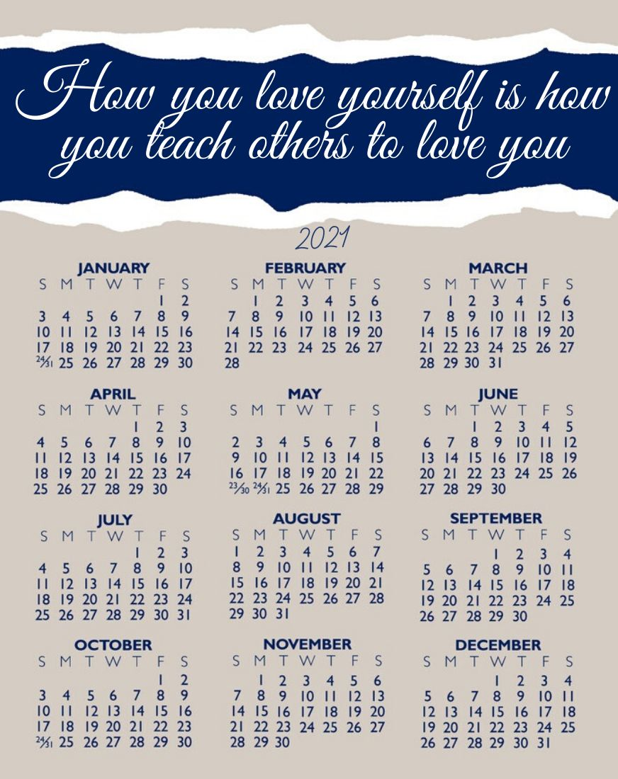2021 Calendar with Life Quotes