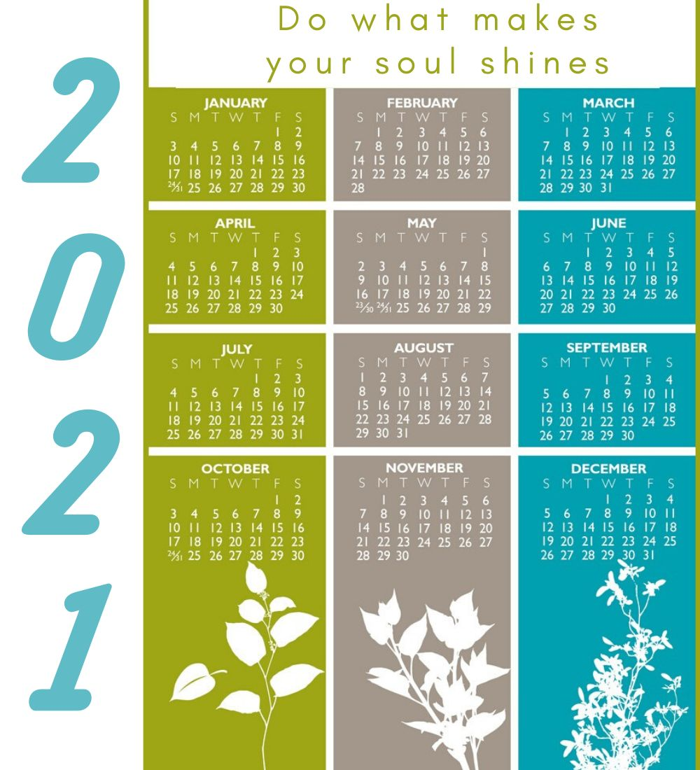 2021 Calendar with Motivational Quotes