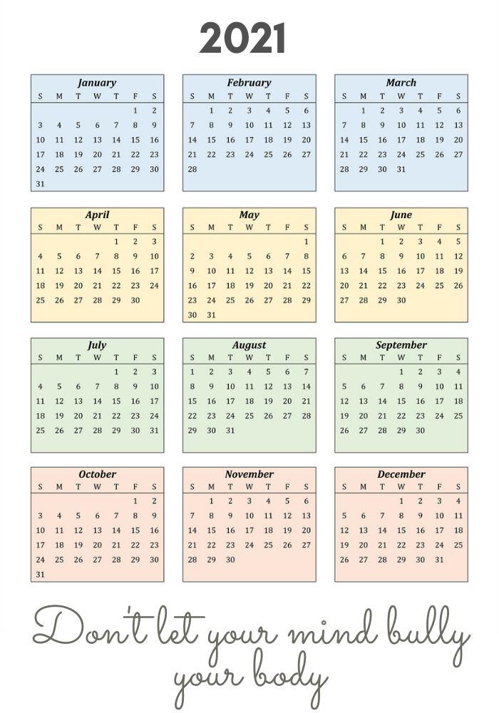 2021 Inspiring Portrait Calendar