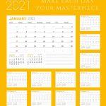 2021 Motivational Calendar Printable