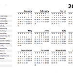 2021 US Holidays Printable Calendar