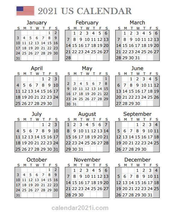 2021 US Portrait Calendar