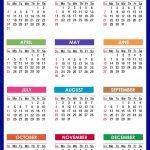 2021 Yearly Printable Calendar