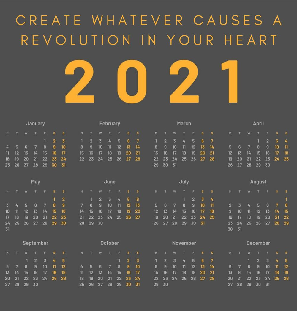 2021 Yearly Quotes Calendar