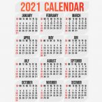 2021 Yearly Vertical Calendar