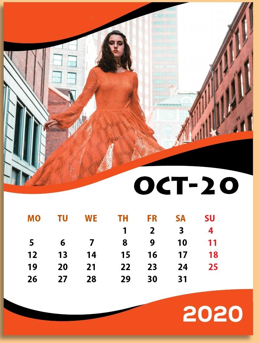 Cool October 2020 Wall Calendar
