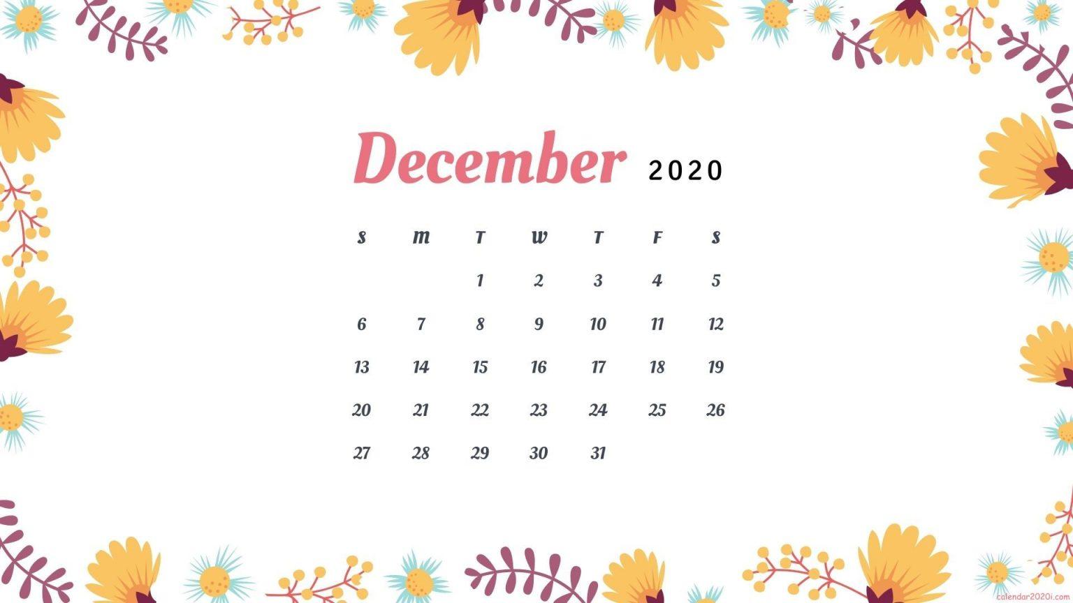 December 2020 Calendar Wallpaper Download