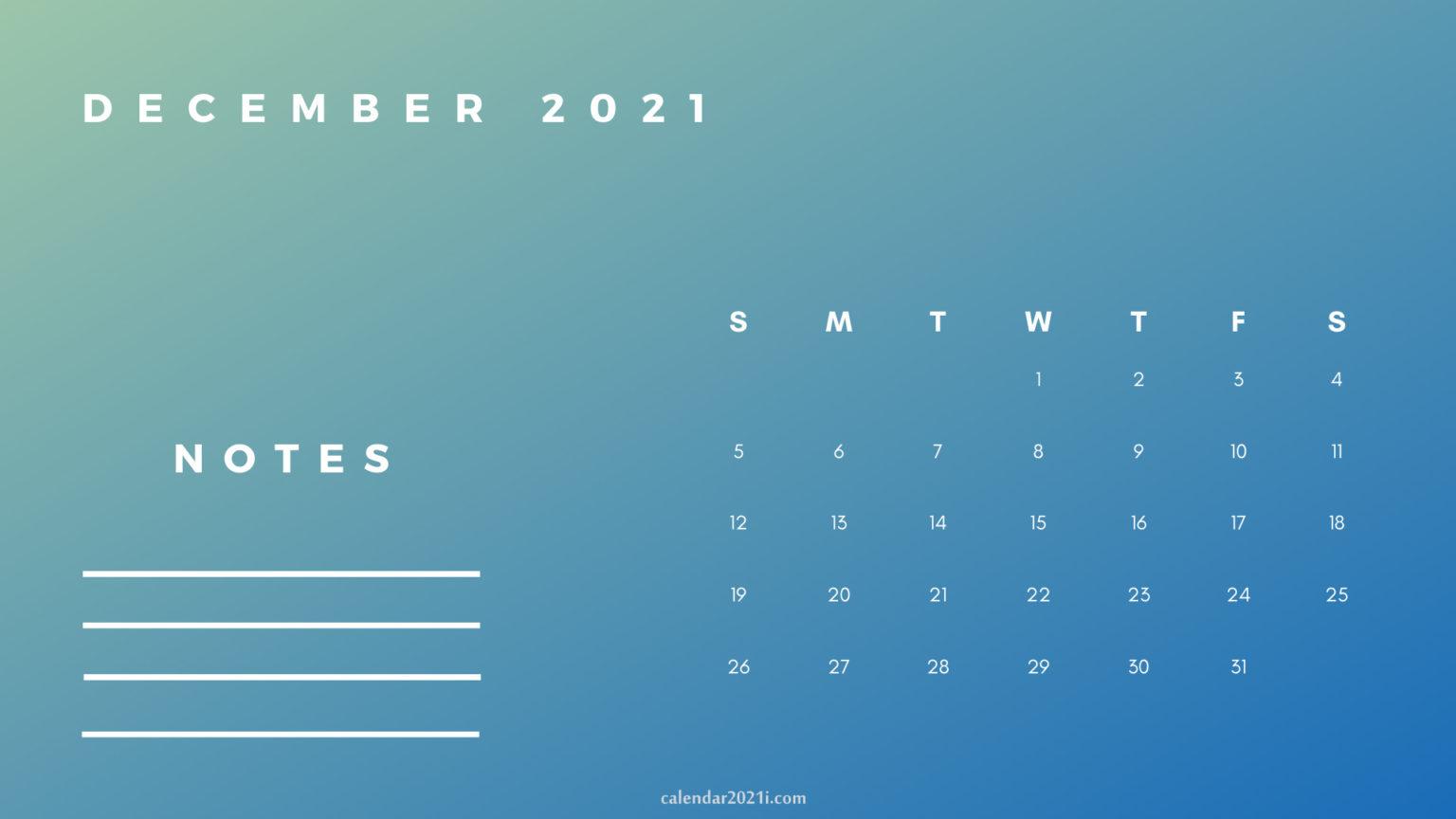 December Printable 2021 Planner Calendar