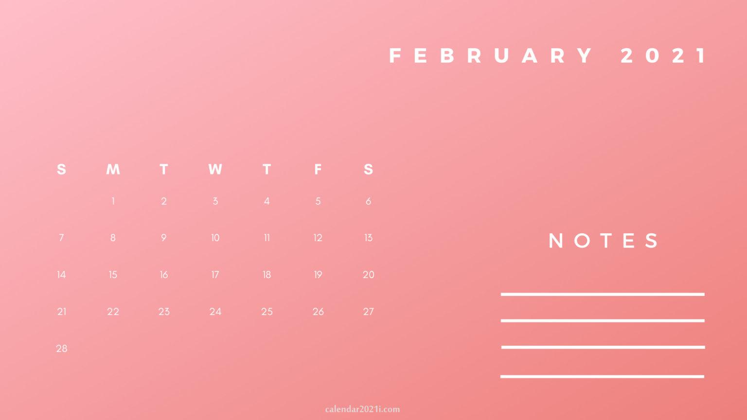 February Printable 2021 Planner Calendar