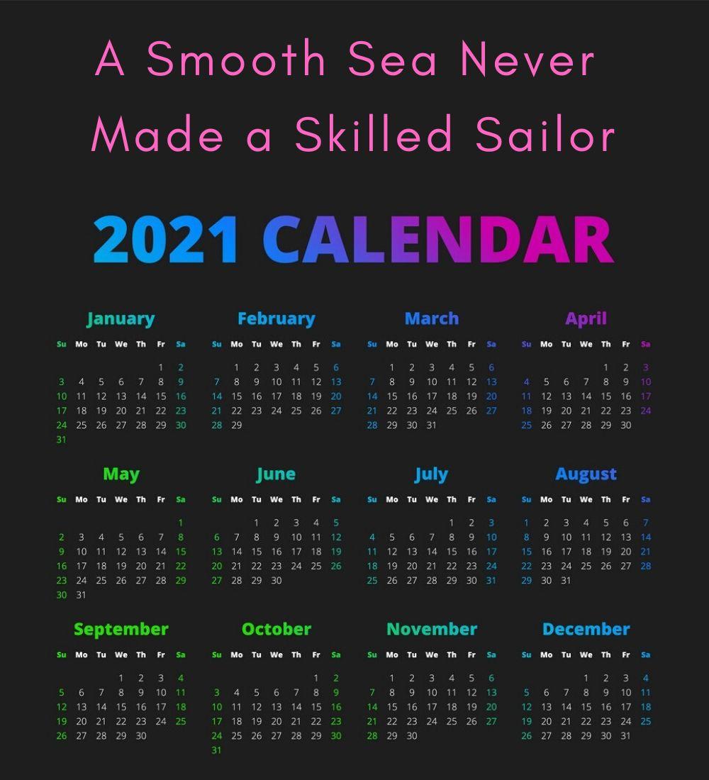 Inspirational 2021 Calendar Printable