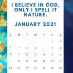 Inspirational January 2021 Calendar