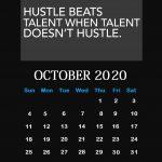 Inspiring October 2020 Saying Lines Calendar