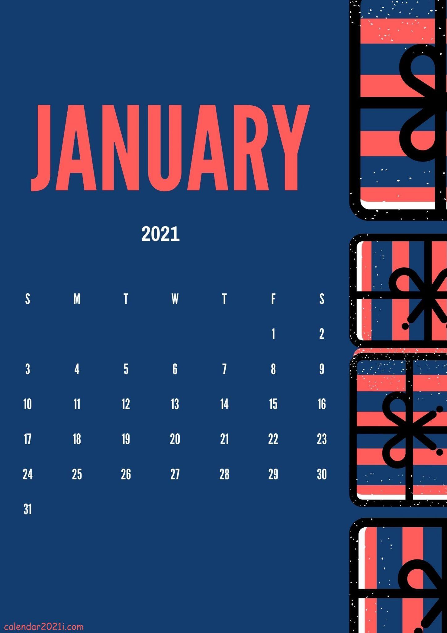 January 2021 Calendar Design