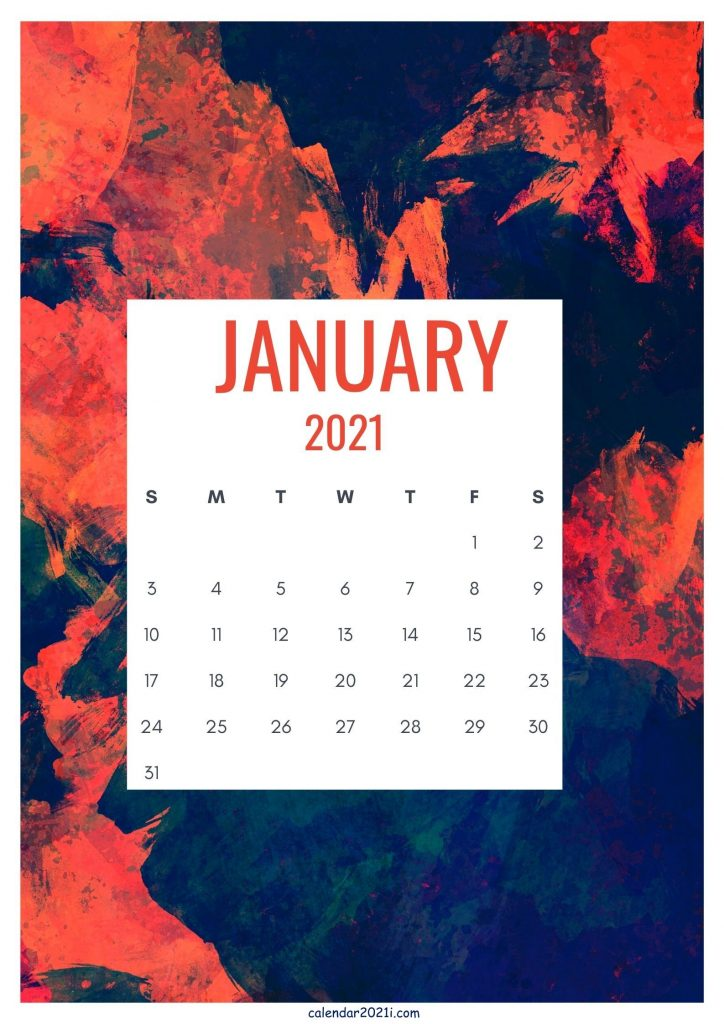 January 2021 Cute Calendar Design
