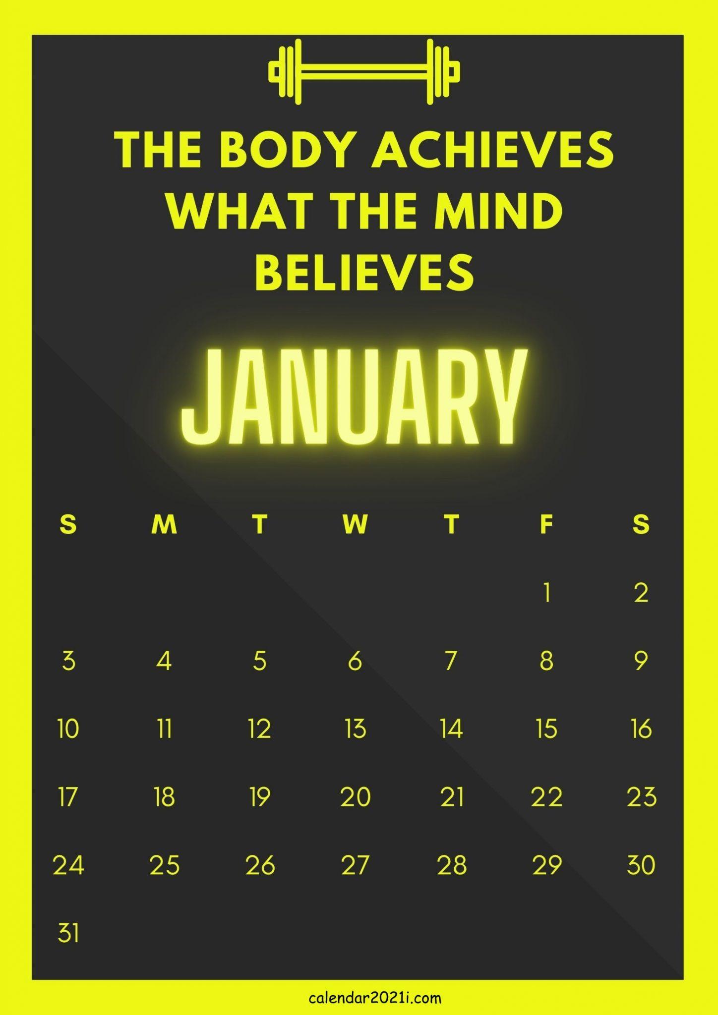 January 2021 Inspiring Calendar