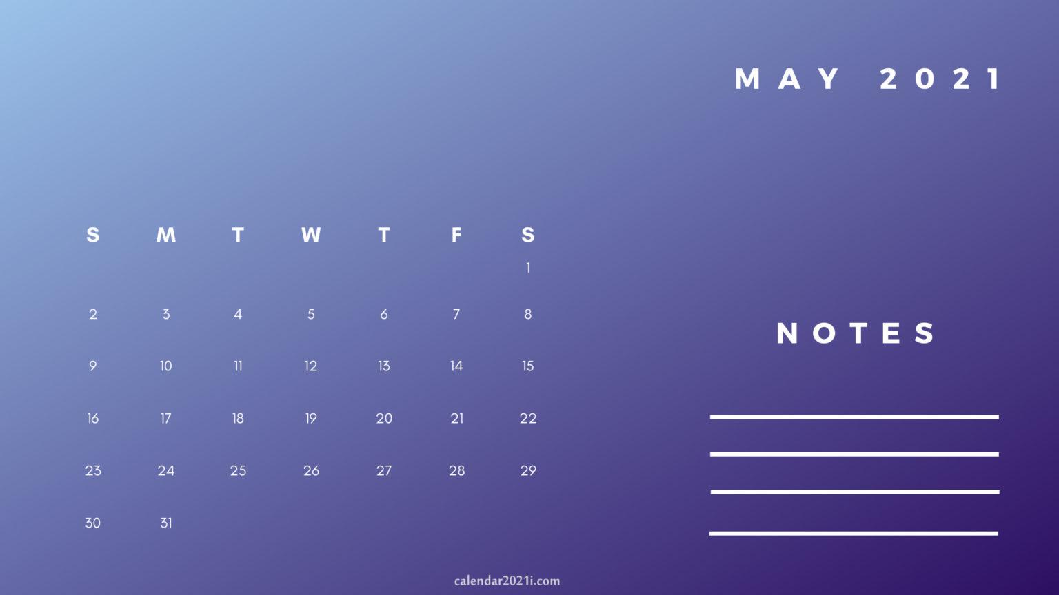 May Printable 2021 Planner Calendar