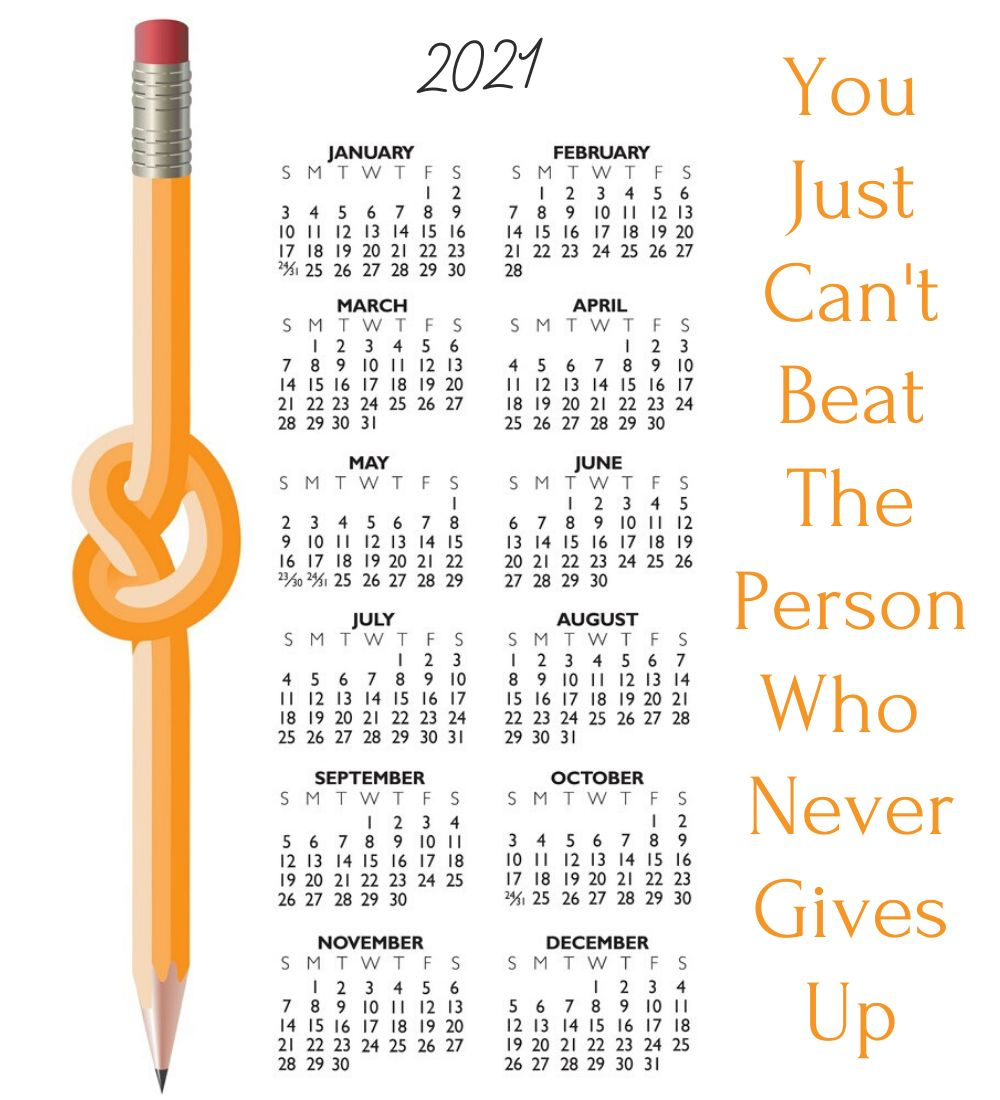Motivational 2021 Calendar with Quotes