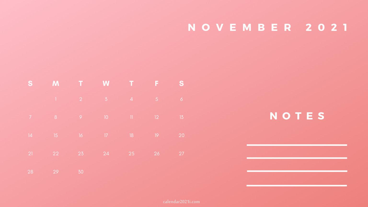 November Printable 2021 Planner Calendar