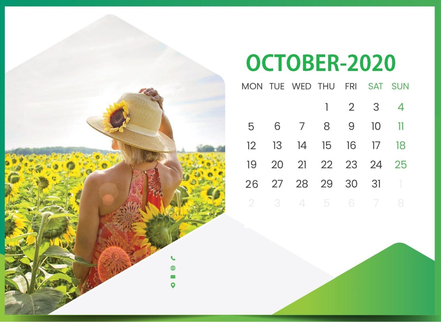 October 2020 Office Wall Calendar