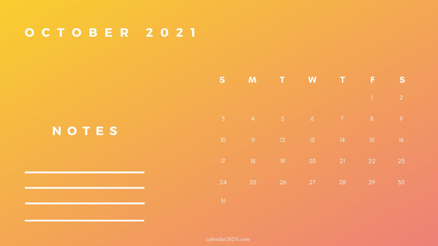 October Printable 2021 Planner Calendar