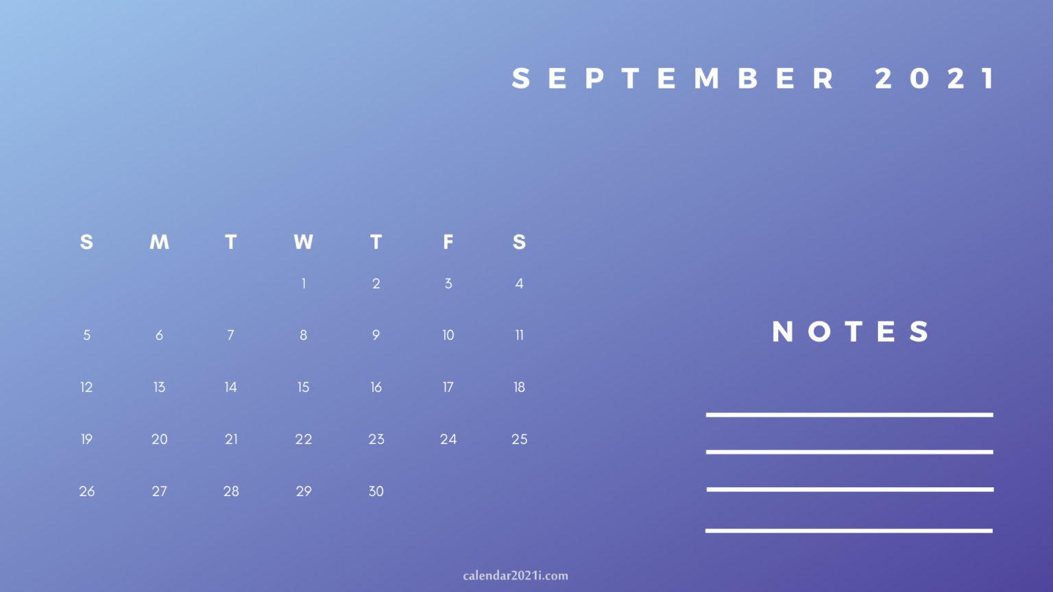 September Printable 2021 Planner Calendar