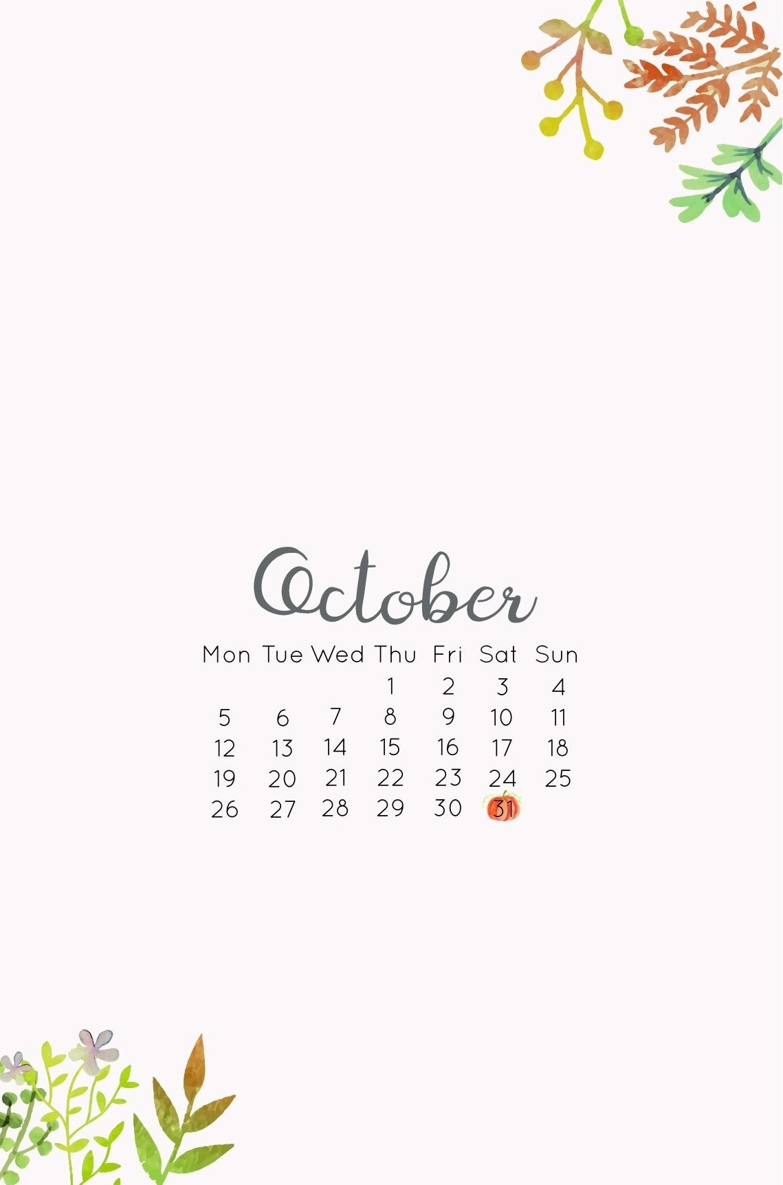 iPhone October 2020 Wallpaper